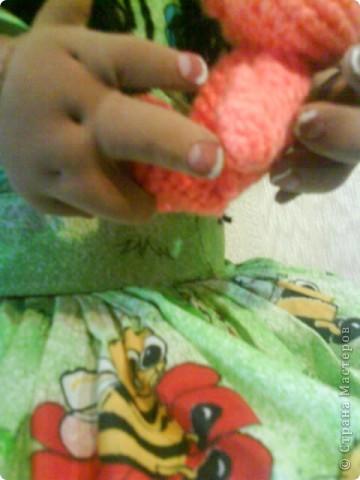 Моя первая кукла по МК pawy,огромное ей спасибо!Правда она здесь без макияжа,сейчас нарумянена и губешки подкрашены. фото 3