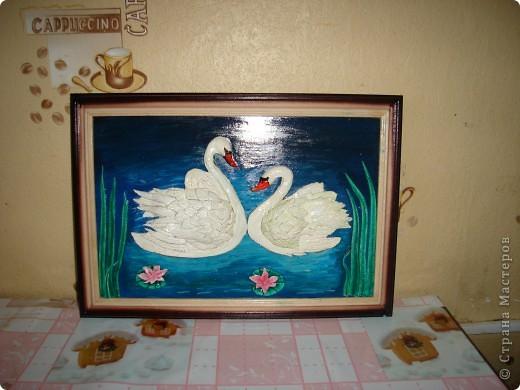"""Картина """"Лебеди"""". Соленое тесто фото 1"""