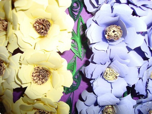 Подобный букет дельфиниумов и МК по изготовлению цветов я увидела в свое время у Princessa Moskva.(За что ей огромное спасибо. Просто гениальный способ изготовления цветов!!!!). Этот букет я сделала себе на День рождения. Через неделю будет готова рамка ,заказанная в багетной мастерской и цветы будут жить  под стеклом.  фото 5
