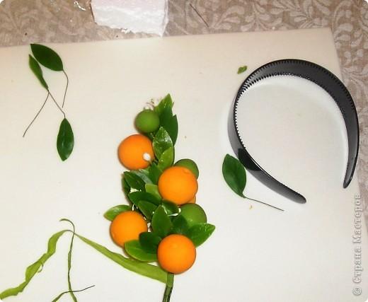 Начала осваивать тайскую глину. Вот первые работы. Веточка апельсинового дерева фото 14