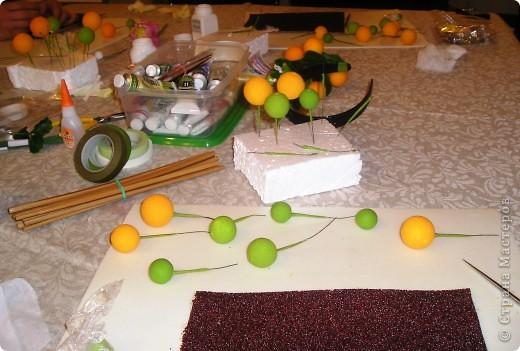 Начала осваивать тайскую глину. Вот первые работы. Веточка апельсинового дерева фото 7