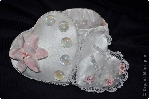 свадебная коробочка с подушечкой для колец фото 2