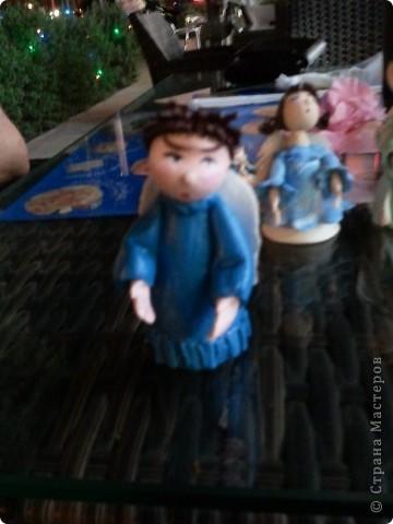 Мое занятие лепкой началось с работы с запекаемой глиной. И первоначально я увлекалась только ангелочками. Эти крошки подарены. фото 3