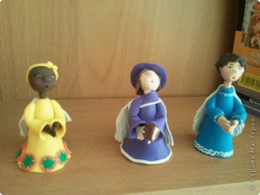 Мое занятие лепкой началось с работы с запекаемой глиной. И первоначально я увлекалась только ангелочками. Эти крошки подарены. фото 4