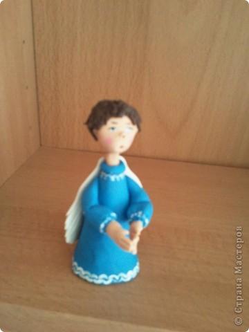 Мое занятие лепкой началось с работы с запекаемой глиной. И первоначально я увлекалась только ангелочками. Эти крошки подарены. фото 7