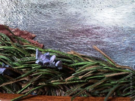 """Картина из кожи """" Гроза """" фото 4"""
