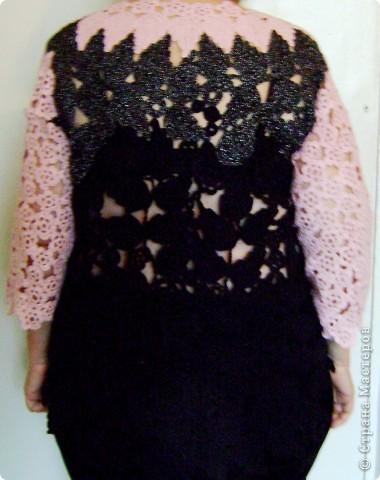 Имитация под блузку с жилетом.Ирландское вязание. фото 2
