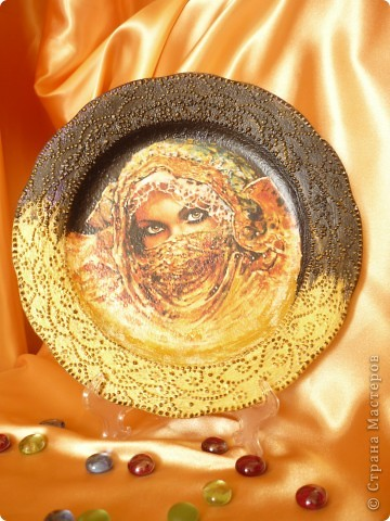 тарелка к уроку прямой декупаж в онлайн школе Натальи Шихаревой на http://www.babyblog.ru фото 2