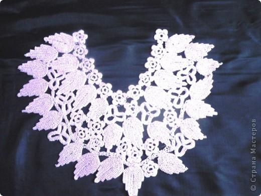 Имитация под блузку с жилетом.Ирландское вязание. фото 3