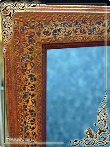 Декорирование рамы зеркала
