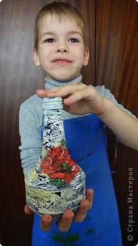 Маленькие умельцы познакомились с техникой декупаж. фото 4