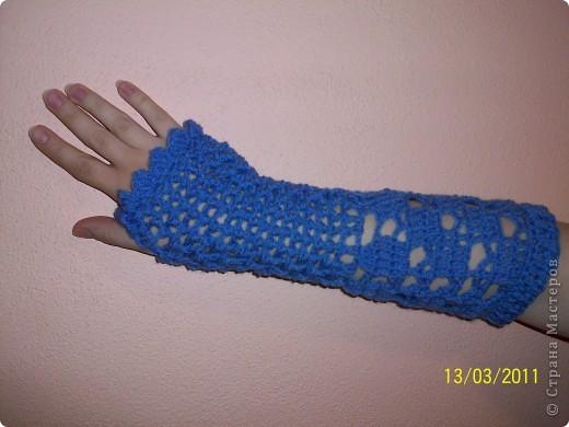 перчатки без пальцев Вязание