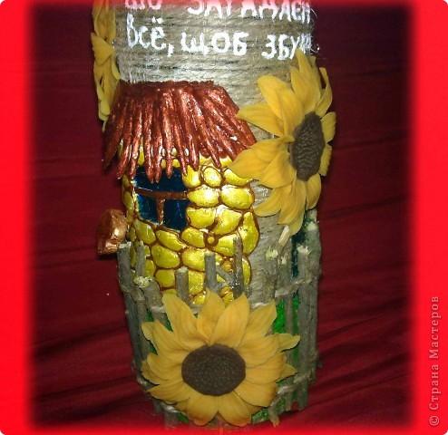 Долго лежала у меня эта бутылочка, вот решила её немного приукрасить)))) Идею где-то в интернете подглядела))) фото 4