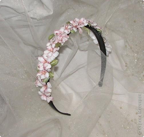 """Ободок """"Нежные цветы"""" фото 2"""