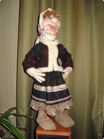 Моя Варвара. Выполнена в скульптурно-текстильной технике. Капрон. фото 1