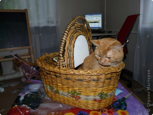 Сплела наконец, корзину для пикника. фото 2
