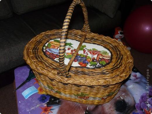 Сплела наконец, корзину для пикника. фото 3
