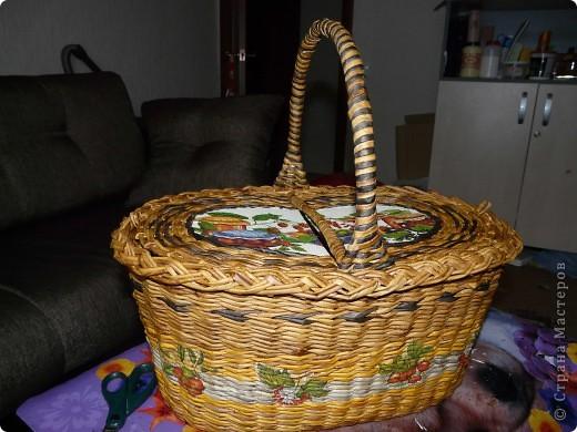 Сплела наконец, корзину для пикника. фото 1