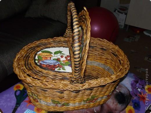 Сплела наконец, корзину для пикника. фото 4