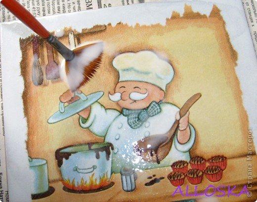Готовлюсь к ремонту на кухне,решила задекупажить плитку,это 1 вариант,еще не знаю что выбрать)))) фото 10