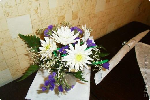 вот и мой букетик цветочков, вдохновленный работами страны мастеров) фото 1