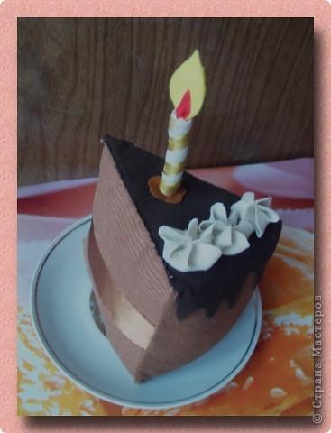 """Кусочек """"шоколадного"""" тортика"""