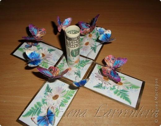 Эту коробочку я сделала для свадьбы,что бы положить туда деньги,не в конверт как принято,а именно в такую красивую коробочку. Она сделана по МК Элен из Лондона. фото 3