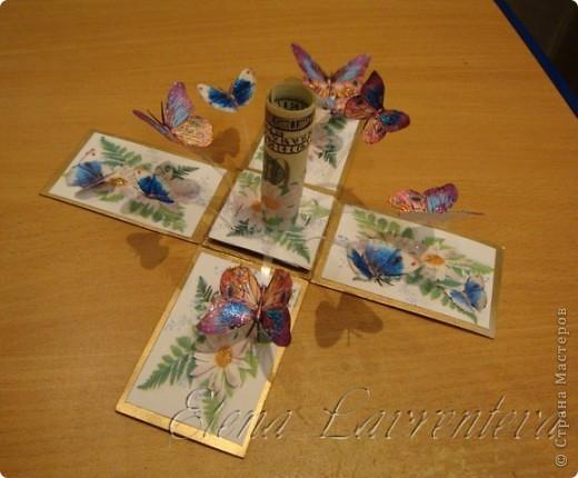 Эту коробочку я сделала для свадьбы,что бы положить туда деньги,не в конверт как принято,а именно в такую красивую коробочку. Она сделана по МК Элен из Лондона. фото 4