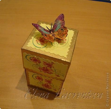 Эту коробочку я сделала для свадьбы,что бы положить туда деньги,не в конверт как принято,а именно в такую красивую коробочку. Она сделана по МК Элен из Лондона. фото 5
