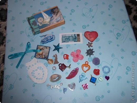 """Сегодня я получила первый коробочек с сокровищами от Оксаночки Ефимовой. Тема """"Морское путешествие"""" Вот такие АТСочки, цветочки и дырокольности. Как же все красиво!!! фото 2"""