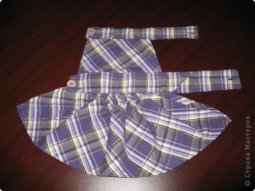 В выходной обрезала сарафан дочке. Из отрезанного куска решила сшить платье нашей любимице Кнопке: фото 1