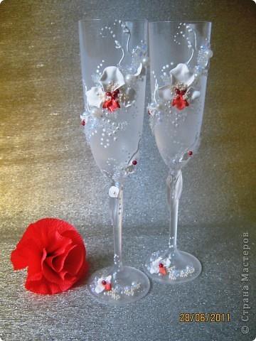 Свадебные бокалы. Попытка №2. фото 1