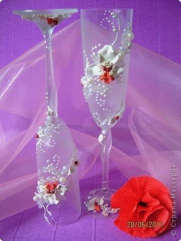 Свадебные бокалы. Попытка №2. фото 4