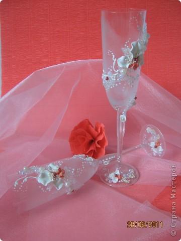 Свадебные бокалы. Попытка №2. фото 2