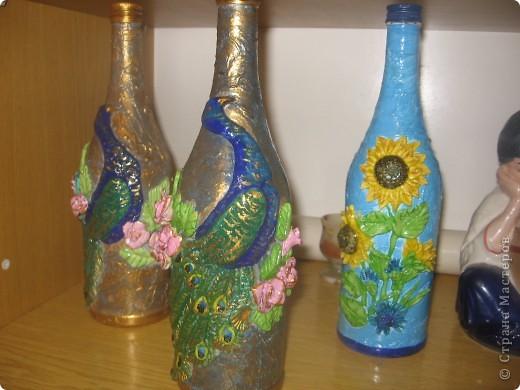 декорирование бутылок соленым тестом фото 4