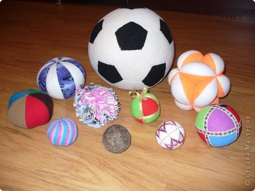 """Все мячики, которые я сделала в школу для проекта """"Мячу все возрасту покорны?!"""" фото 1"""