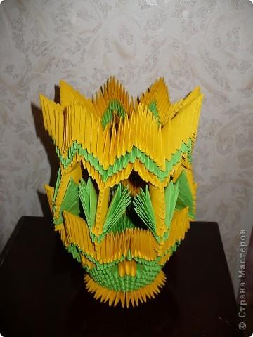 Моя первая работа в модульном оригами! Спасибо огромное за подробный МК Галине Тиховой  http://stranamasterov.ru/node/171627?tid=451%2C328. фото 2