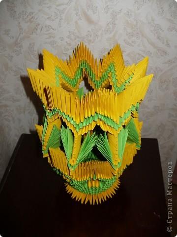 Моя первая работа в модульном оригами! Спасибо огромное за подробный МК Галине Тиховой  http://stranamasterov.ru/node/171627?tid=451%2C328. фото 3