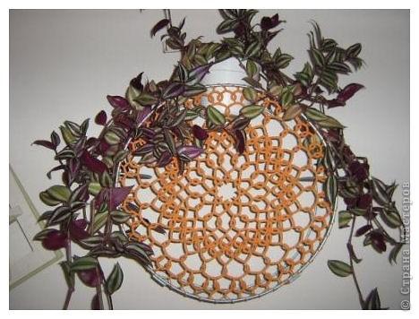 Так я украсила подставку для цветов.  фото 1