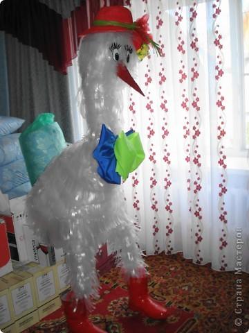 Гусь Гоша, наконец-то доделала, как я его мастерила можно посмотреть здесь: http://stranamasterov.ru/node/185287 Скоро отправится в сад)))) фото 1