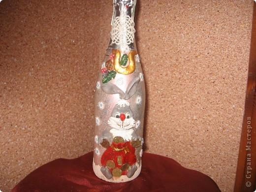 декорирование бутылок соленым тестом фото 11