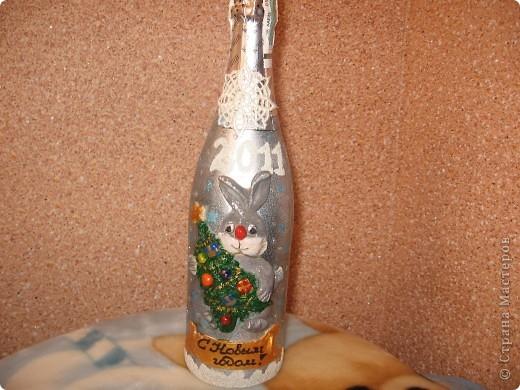 декорирование бутылок соленым тестом фото 10