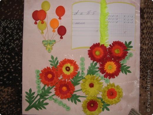 Увидела у Ольги Ольшак картину, очень понравилась. Дочка пойдет осенью в первый класс и решили заранее сделать подарок первой учительнице. фото 1