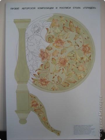 Декор предметов Выпускной Роспись авторская роспись стола геридон Дерево фото 3