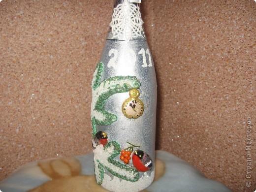 декорирование бутылок соленым тестом фото 8