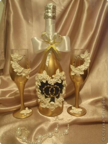 Очередной свадебный набор. Применила дополнительно стразики. фото 1