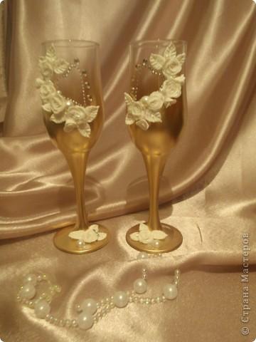 Очередной свадебный набор. Применила дополнительно стразики. фото 2