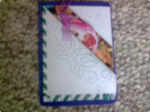Новые виды открыток. В открытке два кармашка, куда можно вложить послание, пожелание, или просто фото. Открытка делается быстро и любых размеров. Решила применить в карточках. Прошила на швейной машинке декоративной строчкой фото 3