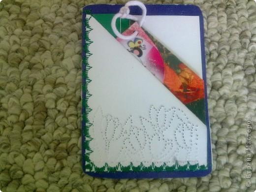 Новые виды открыток. В открытке два кармашка, куда можно вложить послание, пожелание, или просто фото. Открытка делается быстро и любых размеров. Решила применить в карточках. Прошила на швейной машинке декоративной строчкой фото 5