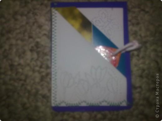 Новые виды открыток. В открытке два кармашка, куда можно вложить послание, пожелание, или просто фото. Открытка делается быстро и любых размеров. Решила применить в карточках. Прошила на швейной машинке декоративной строчкой фото 6